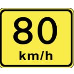 80km/h yellow